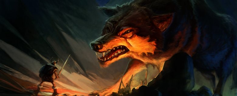 The image of Monstrous wolf Fenrir