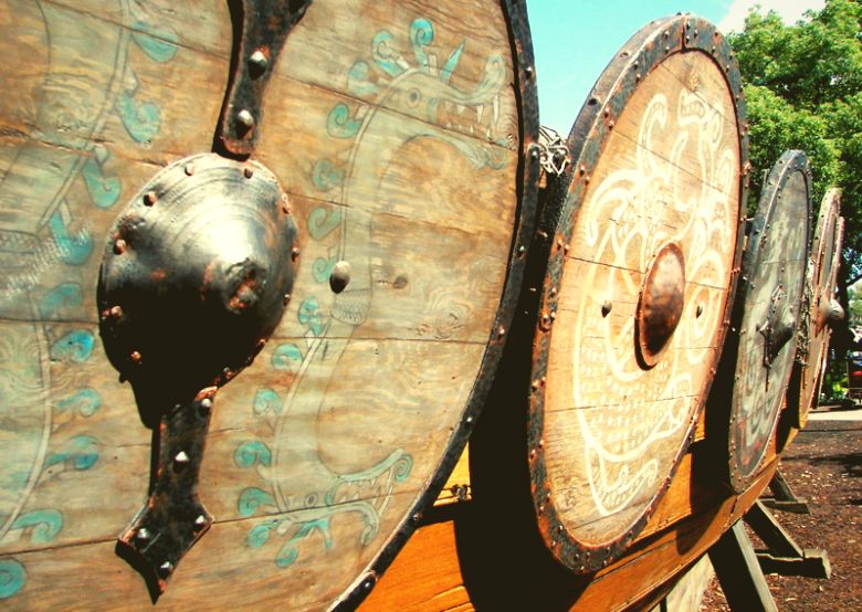 Image of Viking shield viking warrior