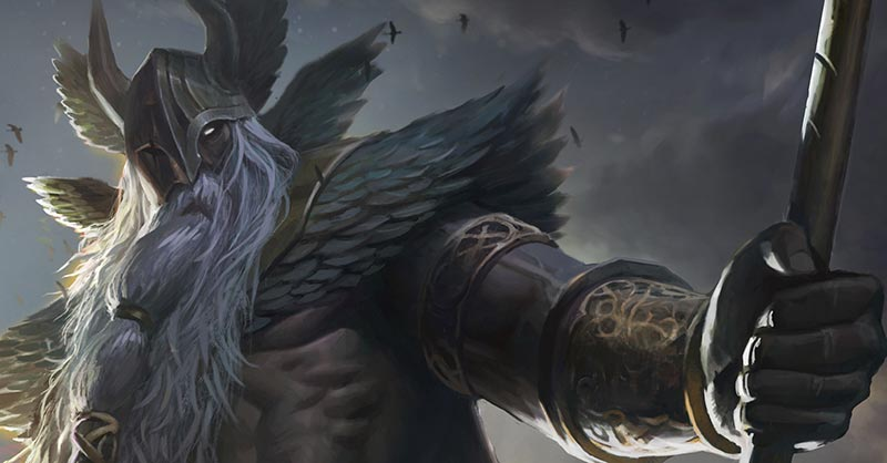 Image of Odin the Allfather Viking Gods of war