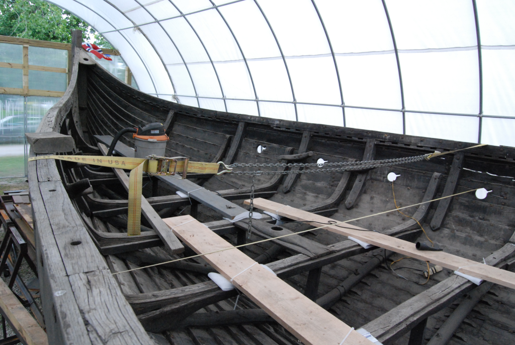 Image of Viking ship First viking ship replica