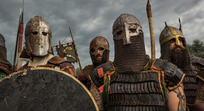 There are many English words from the Vikings. The Viking warriors in Viking age