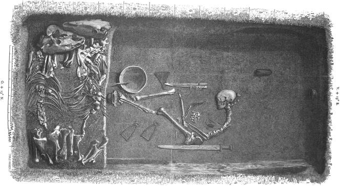 Viking burial site of a Viking shieldmaiden BJ581 Birka
