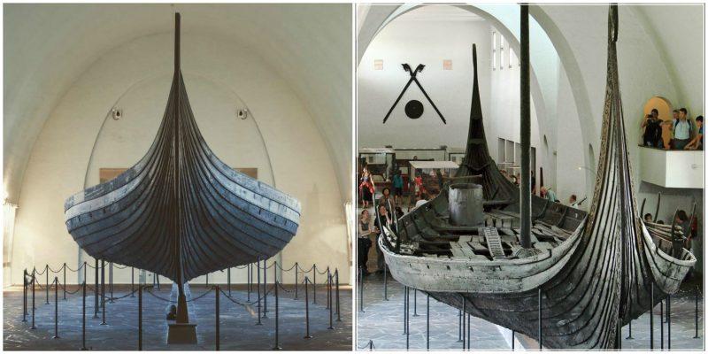 Viking ship Oseberg in the Museum
