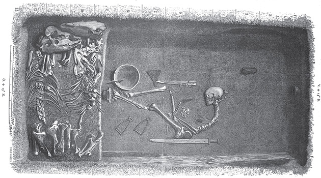 BJ581 Birka is a Viking burial grave belonging to a Viking shieldmaiden