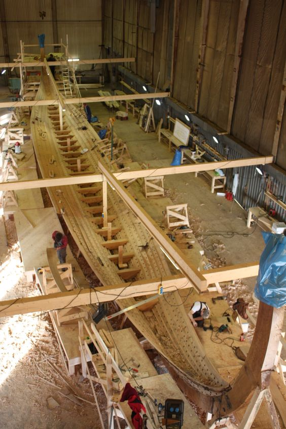 The construction of the largest Viking replica ship - Draken Harald Fairhair