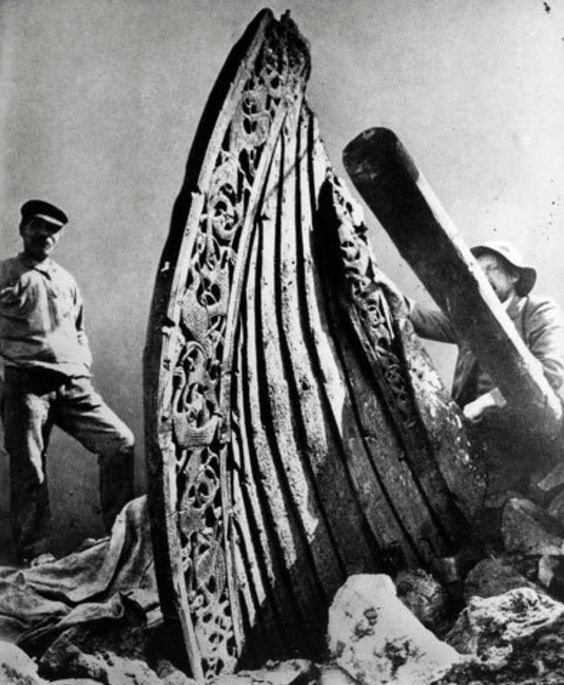 Viking ship Oseberg and the subtle decorative patterns