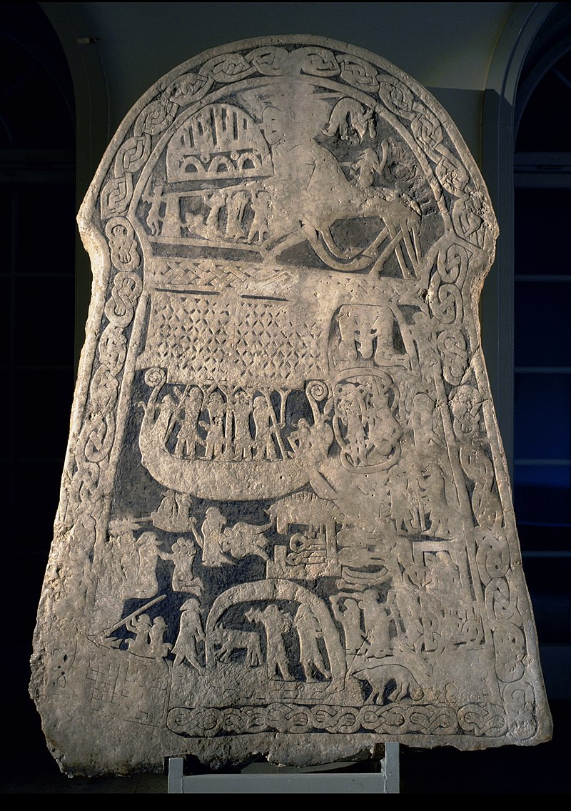 General view of Andre VIII. Viking Andre Image Stones explained
