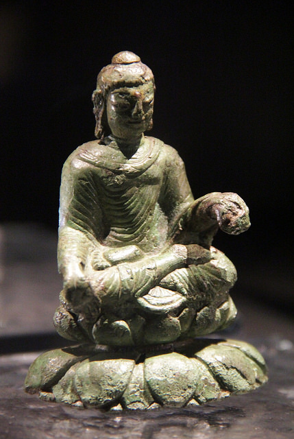 Buddha Statue in Viking Helgo treasure. Viking Buddha was one of awesome Viking artifacts