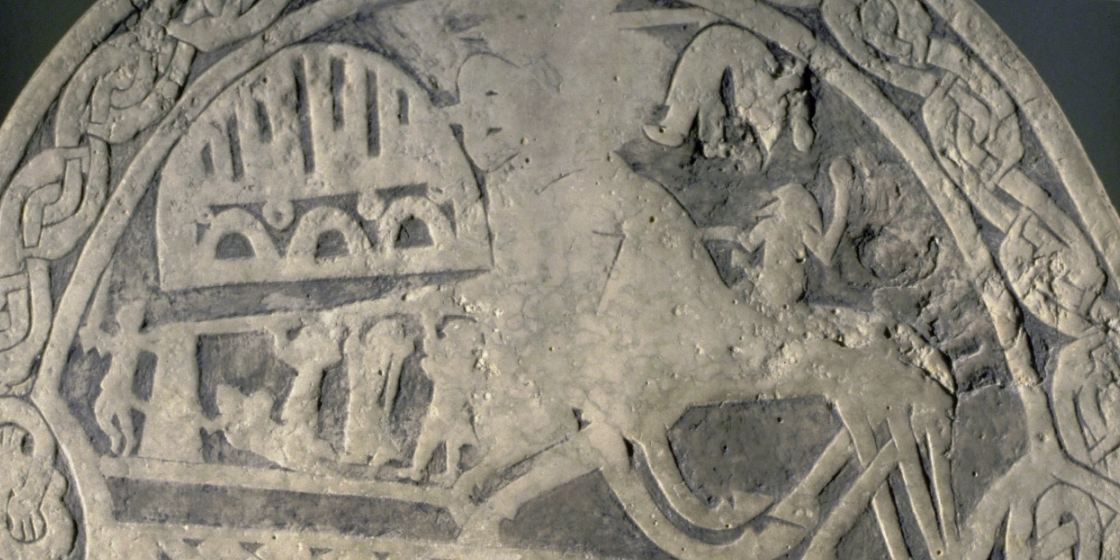 The upper part of Andre VIII. Viking Andre Image Stones explained