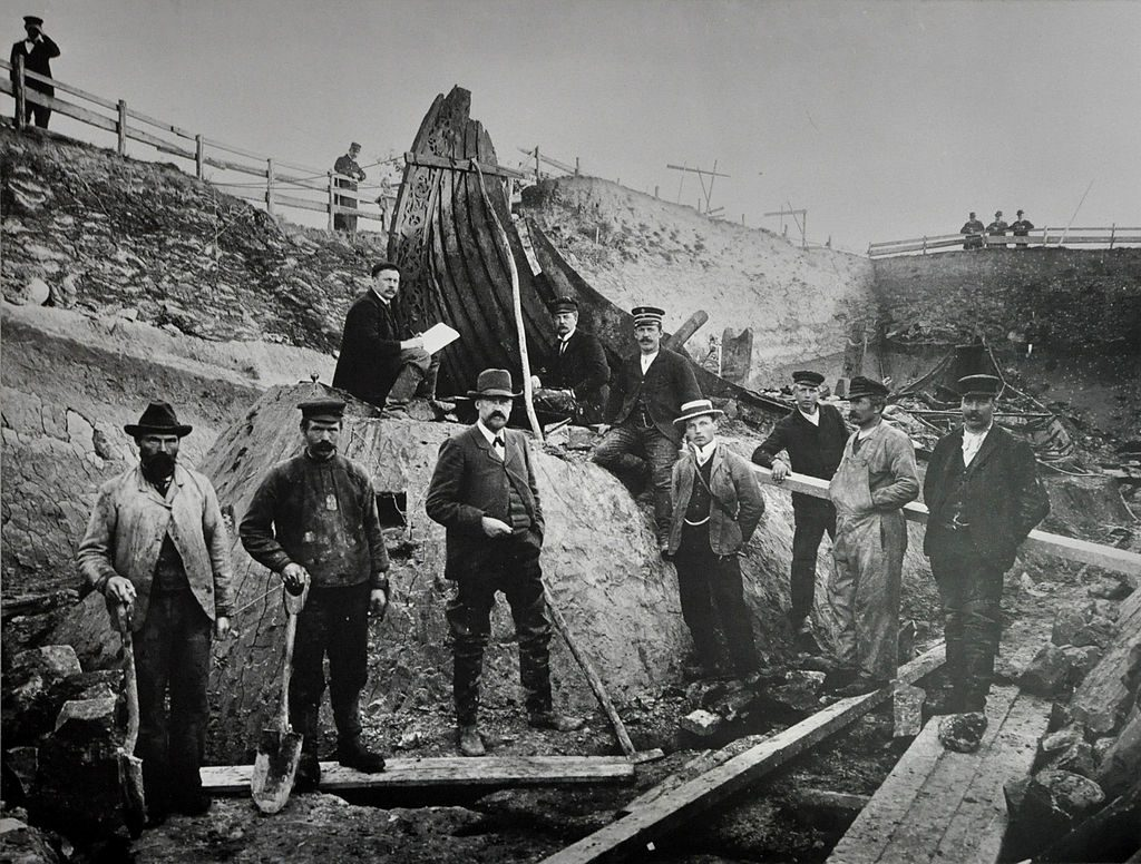 The archaeologists excavated the Oseberg ship and Oseberg burial mound in 1904 in Norway