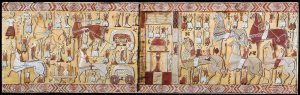 Viking Oseberg Tapestry opens a question as to whether the Vikings had horned helmet