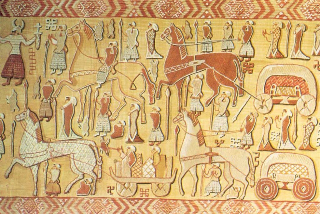 The left side of Oseberg Tapestry