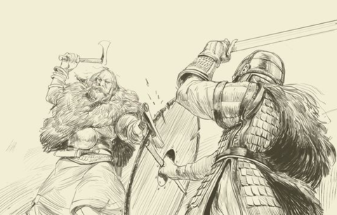 The Vikings had many ways to settle dispute including weregild and holmgang. While the former was about a payment, the latter was a duel which often result in death of one party.