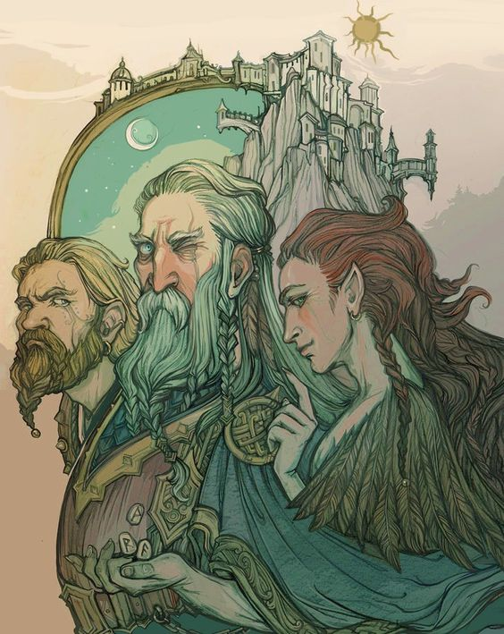 Loki in norse myth often appeared with Odin and Thor