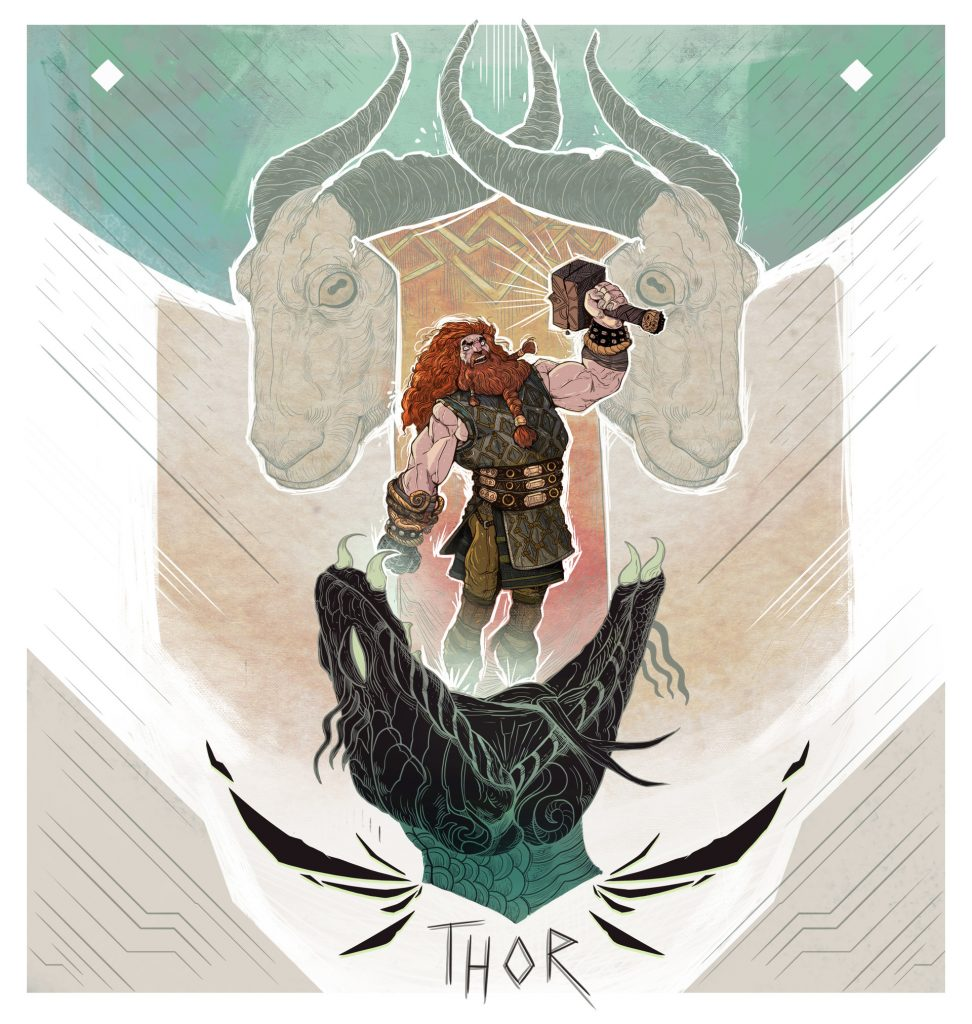 Goats of Thor and the bite of Jormungandr Midgard Serpent