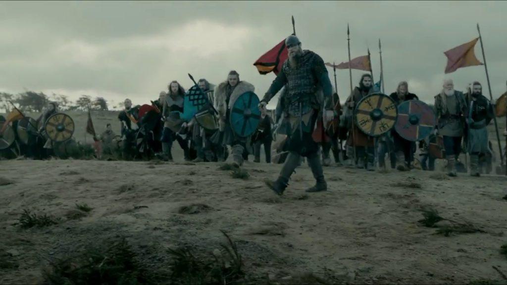 A scene of Viking Great Heathen Army