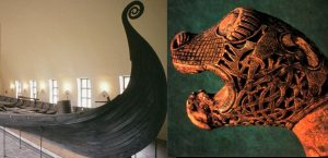 Oseberg burial mound Viking ship