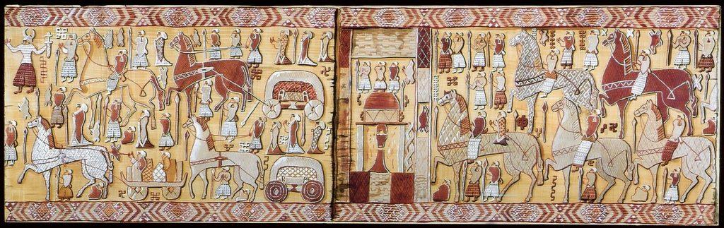 Viking Oseberg tapestry oseberg grave goods