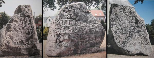 Famous jelling stones b Harald Bluetooth
