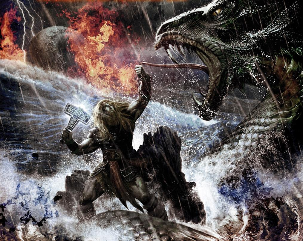 Jormungand three dragons in Norse mythology