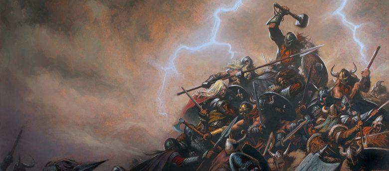 Image of Norse Gods War by Milivoj Ceran