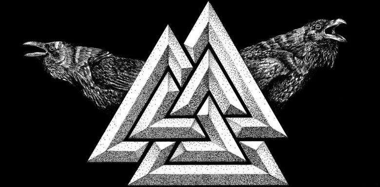 Image of Valknut Odin symbols