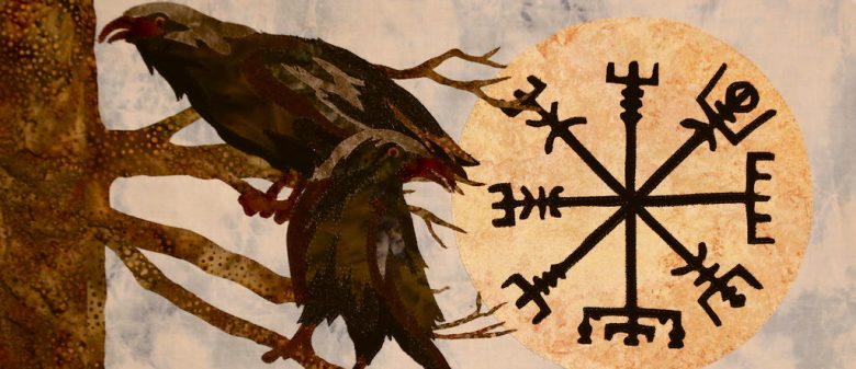 Image of Viking twin ravens symbol