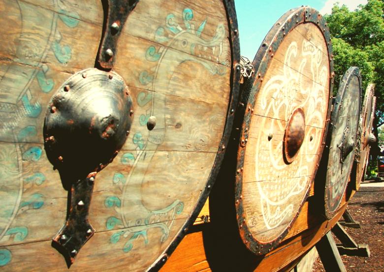 Image of Viking shield viking warrior