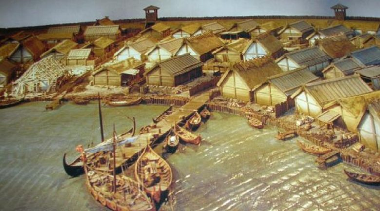 modern reconstruction of viking birka town viking hectic town