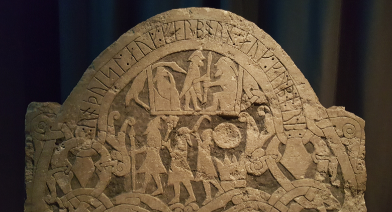 Viking runestone and Viking symbols