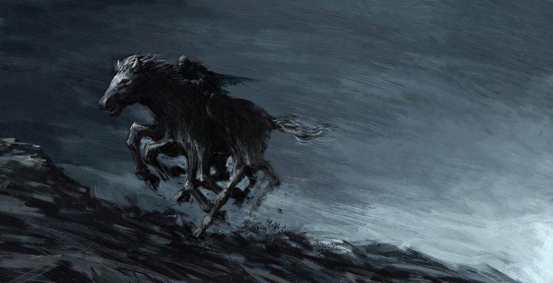Odin the Allfather on his Sleipnir the horse