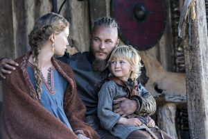 Viking love story between Ragnar Lothbrok and Aslaug Kraka Sigurddottir