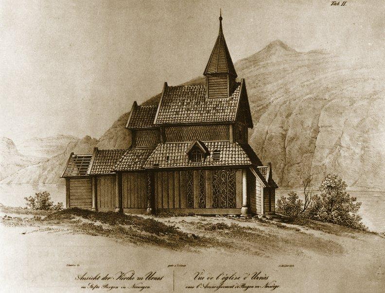 Drawing by Johan Christian Dahl