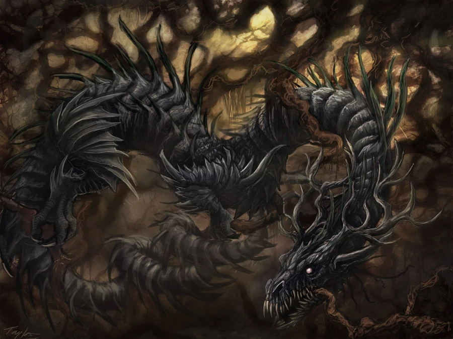 Nidhogg one of the dragons in norse mythology